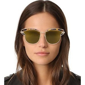 Karen Walker Felipe cat eye brow line sunglasses